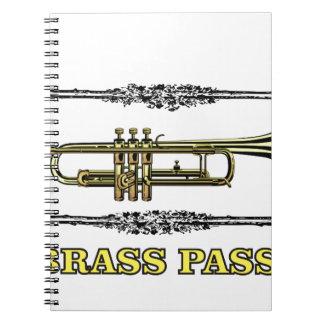 trumpet brass pass note books