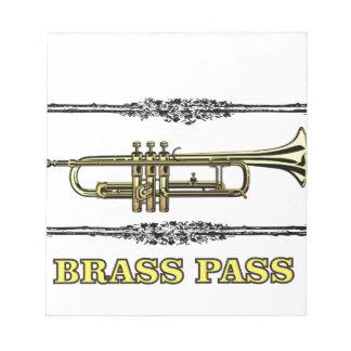 trumpet brass pass notepads