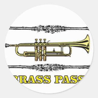 trumpet brass pass round sticker