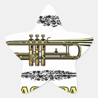 trumpet brass pass star sticker