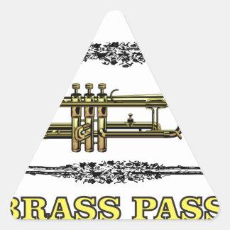 trumpet brass pass triangle sticker