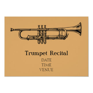 Trumpet Brass Recital jazz stylish performance Card