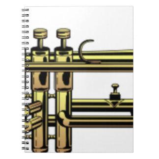 Trumpet Cartoon Notebooks