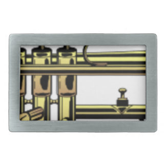 Trumpet Cartoon Rectangular Belt Buckle