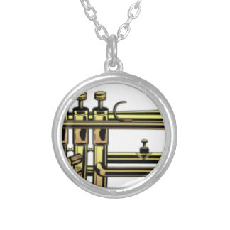Trumpet Cartoon Silver Plated Necklace