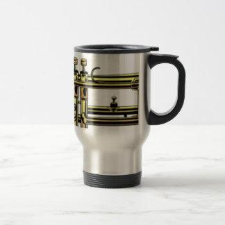 Trumpet Cartoon Travel Mug