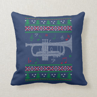Trumpet Christmas Throw Pillow