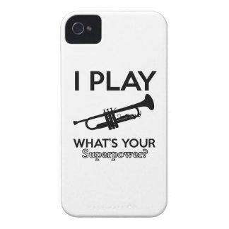 trumpet designs iPhone 4 Case-Mate case