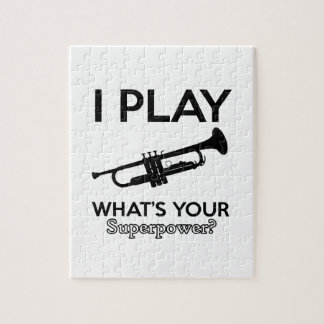 trumpet designs jigsaw puzzle