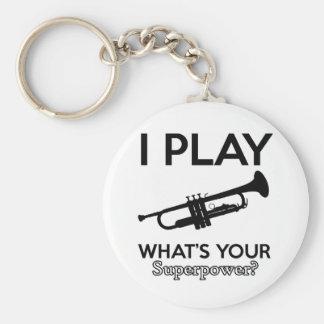 trumpet designs keychain