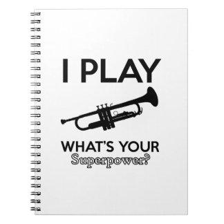 trumpet designs notebooks
