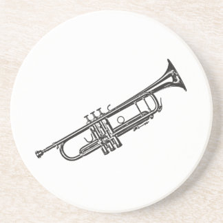 "Trumpet ""Drawing"" Coaster"