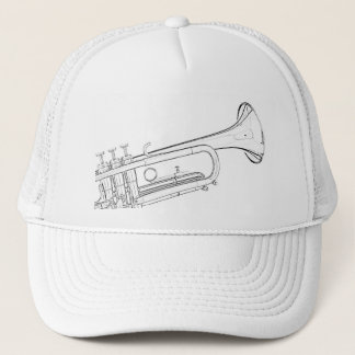 Trumpet Drawing Golf Cap or Hat