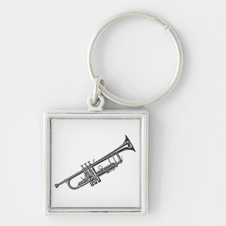 "Trumpet ""Drawing"" Keychain"