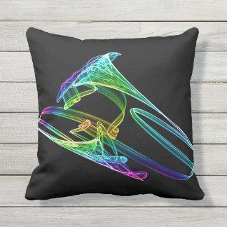 Trumpet Fractal Throw Pillow