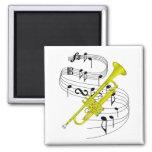 Trumpet Fridge Magnets