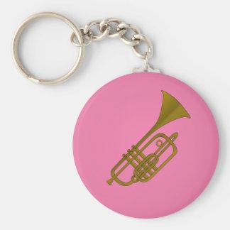 Trumpet illustration keychain
