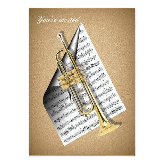 Trumpet invitation cards