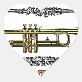 trumpet jazz tool heart sticker