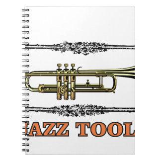 trumpet jazz tool spiral notebooks