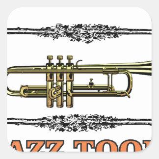 trumpet jazz tool square sticker