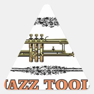 trumpet jazz tool triangle sticker