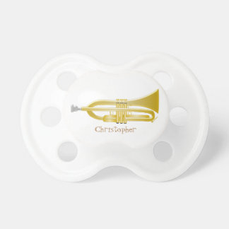 Trumpet Just Add Name Pacifier