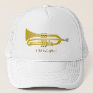 Trumpet Just Add Name Trucker Hat