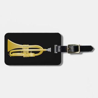 Trumpet Just Add Text Black Luggage Tag