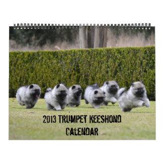 Trumpet Keeshond Calendar 2013-updated end of Dec