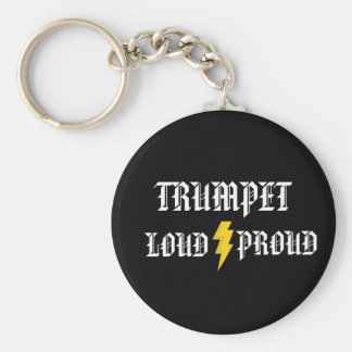 Trumpet: Loud and Proud Keychain