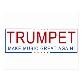 TRUMPET - Make Music Great Again! Postcard