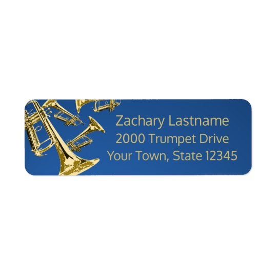 Trumpet Mania Gold and Blue