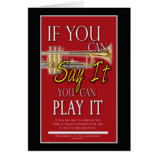 Trumpet Music Lesson Card
