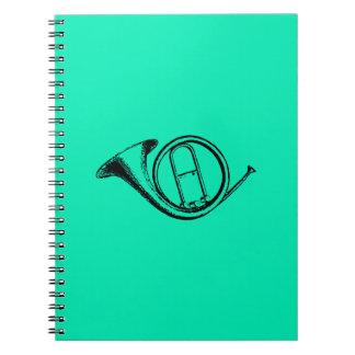 Trumpet & Music Love Spiral Note Book