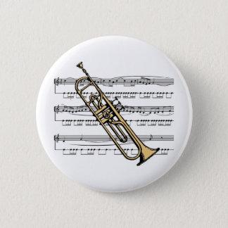 Trumpet musical 11 B 2 Inch Round Button