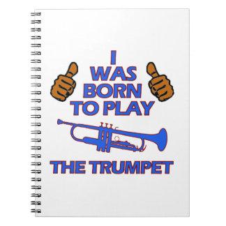 trumpet Musical designs Notebooks