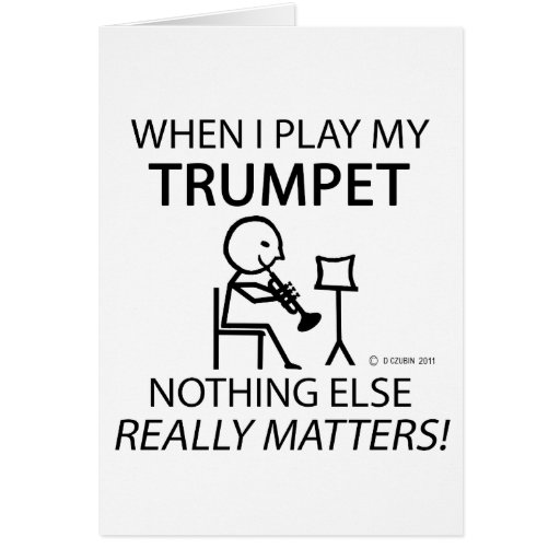 Trumpet Nothing Else Matters Cards