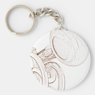 Trumpet or Cornet Keychain or Key Chain