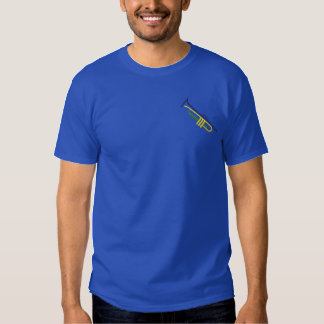 Trumpet Outline Embroidered T-Shirt