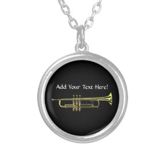 Trumpet Personalized Music Necklace