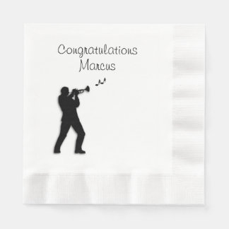 Trumpet Player Custom Congratulations Paper Napkin