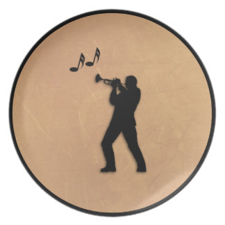 Trumpet Player Diner Plate