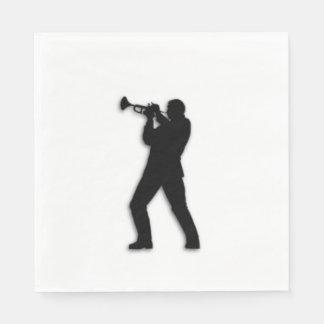 Trumpet Player Disposable Napkins