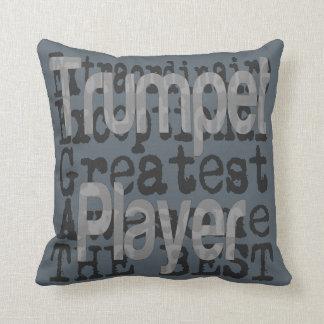 Trumpet Player Extraordinaire Throw Pillow
