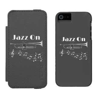 Trumpet Player Jazz On Incipio Watson™ iPhone 5 Wallet Case