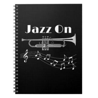Trumpet Player Jazz On Notebook