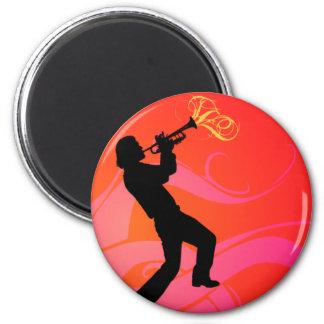 Trumpet Player Magnet