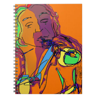 Trumpet Player...Play that funky music! Spiral Note Book