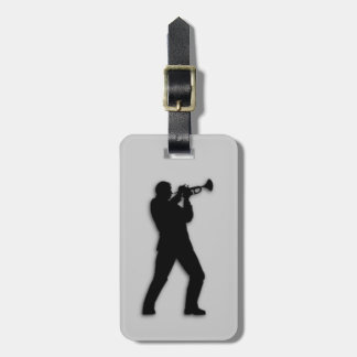 Trumpet Player Silver Luggage Tag